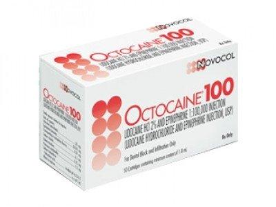 Anestesia Octocaine 100 al 2% Novocol